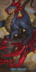 2017 Zodiac Dragons Calendar - Cancer Dragon by The-SixthLeafClover