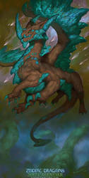 2017 Zodiac Dragons Sagittarius by The-SixthLeafClover