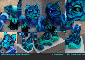 Starlight Galaxy Clouded Leopard with Fiber Optics by The-SixthLeafClover