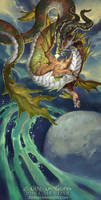 2018 The Sea-Goat Water Zodiac Dragon Capricorn by The-SixthLeafClover