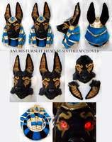 Anubis Fursuit Head and Video by The-SixthLeafClover