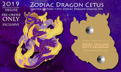 Zodiac Dragon Cetus Enamel Pin by The-SixthLeafClover