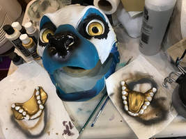 Bastet Partial fursuit progress coming up by The-SixthLeafClover