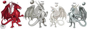 Metallic Dragons Reference by The-SixthLeafClover