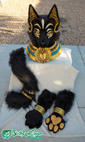 Egyptian Cat Fursuit Costume Partial by The-SixthLeafClover