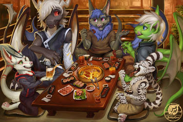 Delicious Dining by The-SixthLeafClover