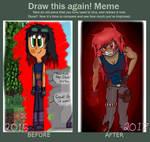Draw This Again Meme {Obsidian Roze} by SamIamLuvDov