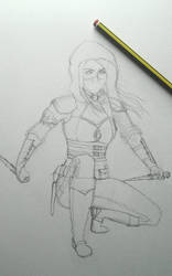 Female Rogue WIP by christie174