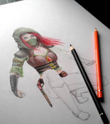 Female Rogue WIP 2 by christie174