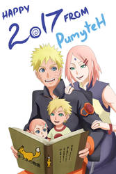 Happy New Year with NaruSaku Family by PumiiH
