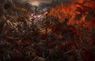 RAZLOM.Battle of Weeping Rock by Leohao73