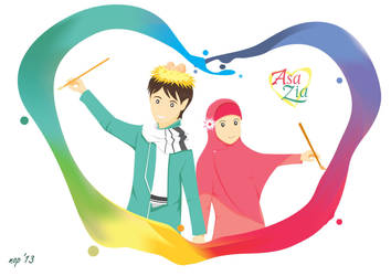 AsaZia - Rainbow Artist by novrian
