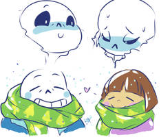Undertale: sketches by Fulcrumisthebomb