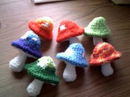 Mushrooms by ShiningamiMaxwell