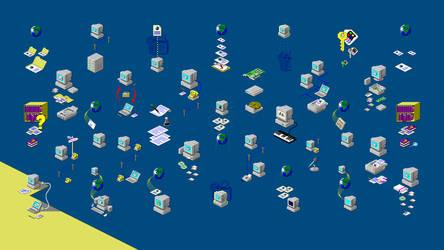 Windows 98 wizard artwork wallpaper by djdjukic