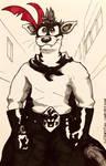 Inktober 2018 - Paranoid Man  by ArtRock15