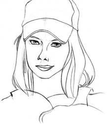 Sketch Face Girl 001 by Mangaboy