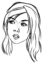Sketch Face Girl 003 by Mangaboy