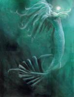 Mermaid in Blue by JunebugHardee