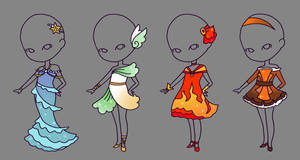 Element Outfit Adopts Set - 50 Points (CLOSED) by StarlitMoth
