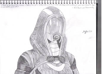 Tali'Zorah vas Normandy by Pythagasaurus