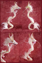 Sequin Chinese dragon - handmade doll by Piquipauparro