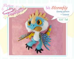 Little Stormfly - Felt patern by Piquipauparro