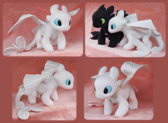 Young Light Fury - Handmade Plush by Piquipauparro