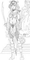 Necromancer Aria - Sketch by Vengerin