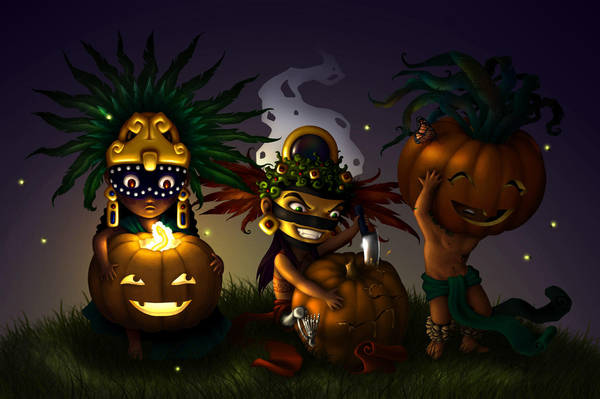 Aztec Halloween by TheArtfulMegalodon