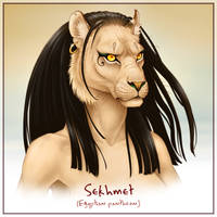 Godlings Faces - Sekhmet by TheArtfulMegalodon