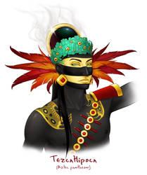 Godlings Faces - Tezcatlipoca by TheArtfulMegalodon
