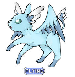 Flying Type Eeveelution - Fluttereon by Averylilith
