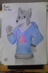 axel striker the wolf by alestriker01