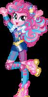 Pinkie Pie Roller Skating Costume Vector by illumnious