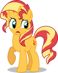 Confused Sunset Shimmer by illumnious