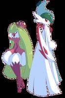 Gallade and Tsareena by Sitrophe