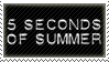 5 Seconds Of Summer Stamp by Fruitily