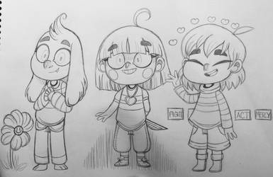 Undertale Trio by FlakyFever
