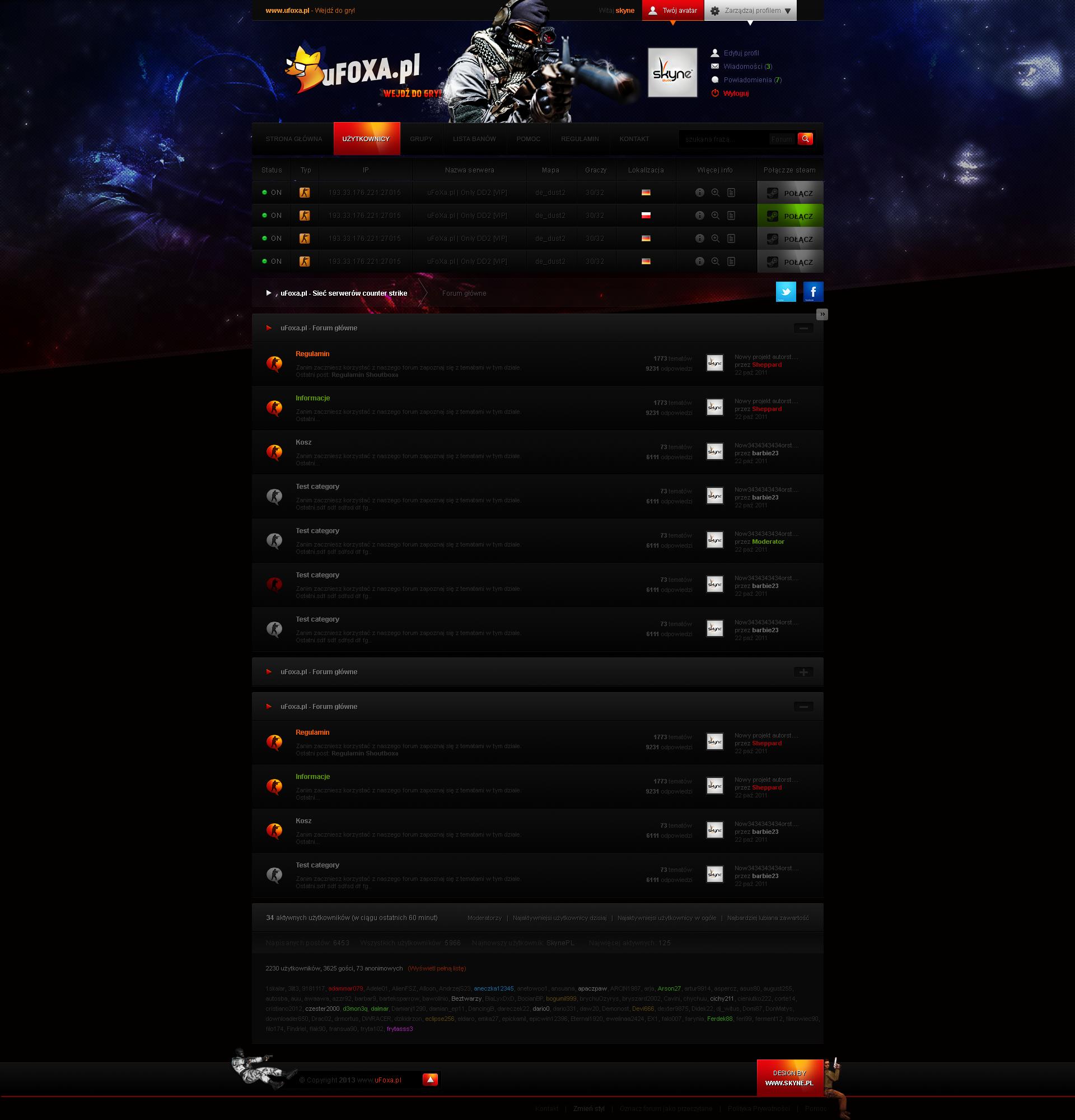 uFoxa - Counter strike forum layout by sheppard100