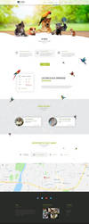 Agamavet responsive one page flat design by enyks by sheppard100
