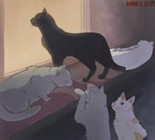 Cat Drawing Practice - Window Cats by Minks-Art