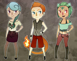 Generation I: Starter Gijinkas by Vixie-Bee