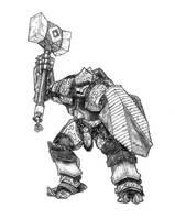 Guard, Warforged Juggernaut by butterfrog