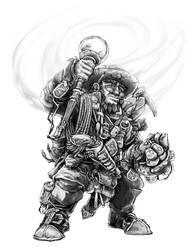 Dwarf Explorer-Artificer by butterfrog