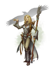 Raven Sorceress by butterfrog