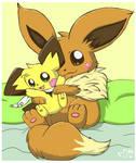Fluffy Hugs by pichu90