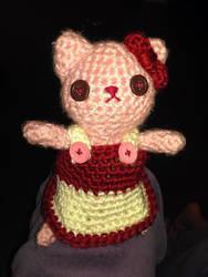 Amigurumi Kitty with Dress by starrley