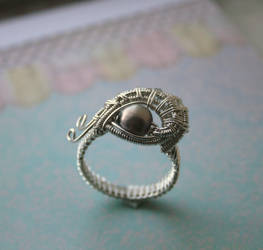 Evil Eye Ring Handmade by WrappedbyDesign