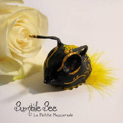 Bumble Bee masquerade Mask by Mikadze